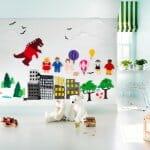 Детска стая с 3D декорации на стената