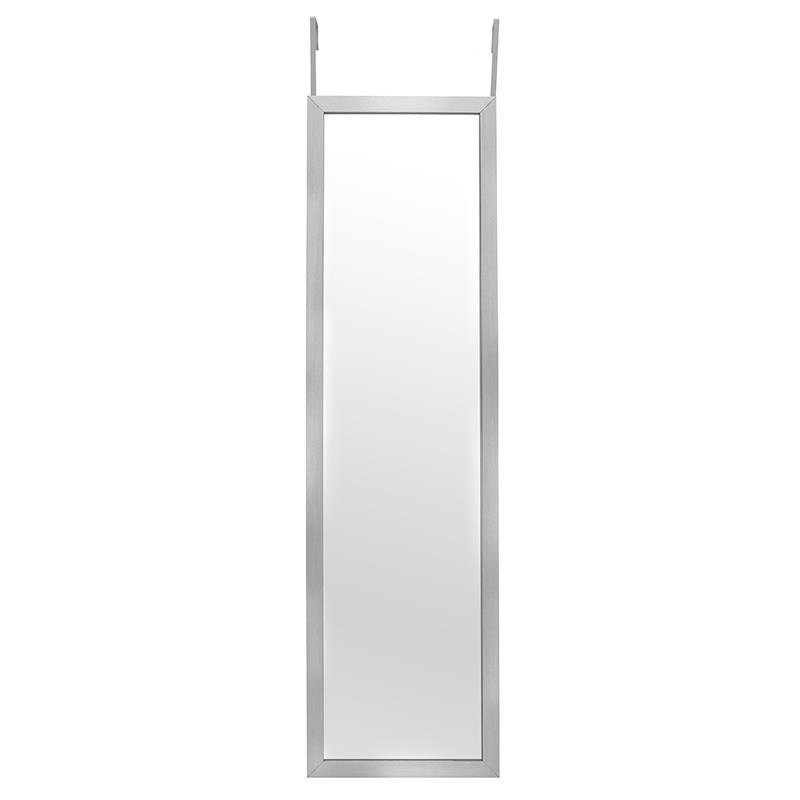 Огледало за закачане на врата в сребристо