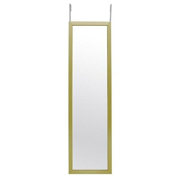 Огледало за закачане на врата в златисто