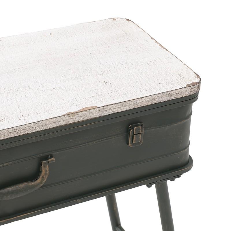 Помощни маси като куфар с място за съхранение - отблизо