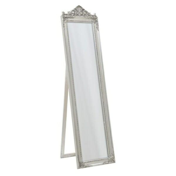 Свободностоящо огледало с класическа визия в сребристо