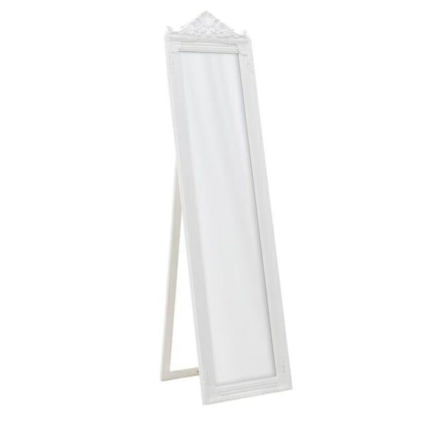 Свободностоящо огледало с класическа визия в бяло