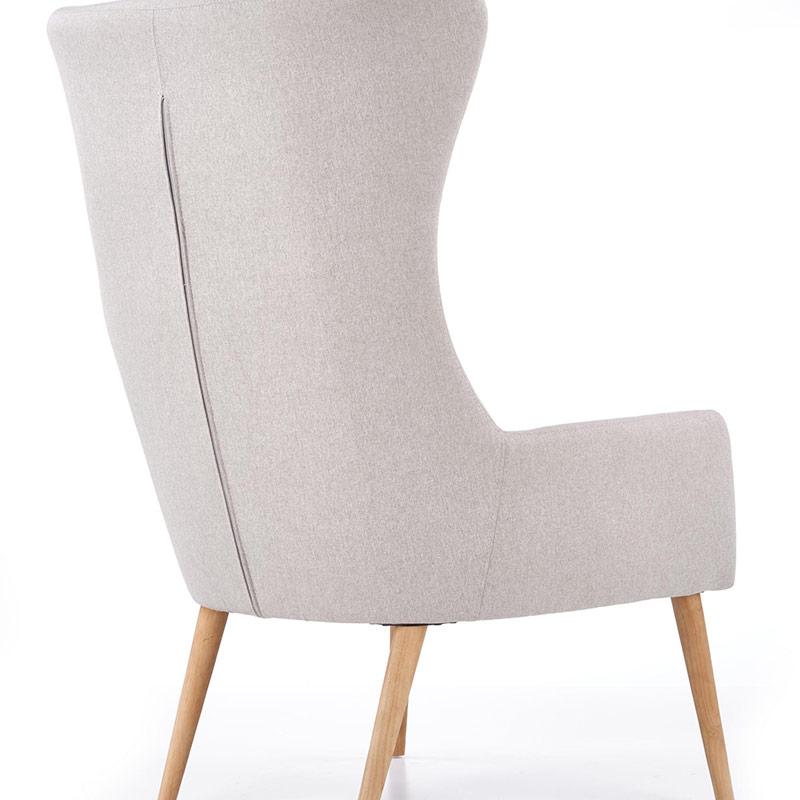 Сиво кресло с висока облегалка и възглавница Франклин-снимка отзад