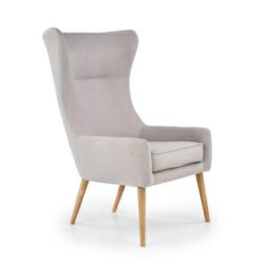 Сиво кресло с висока облегалка и възглавница Франклин