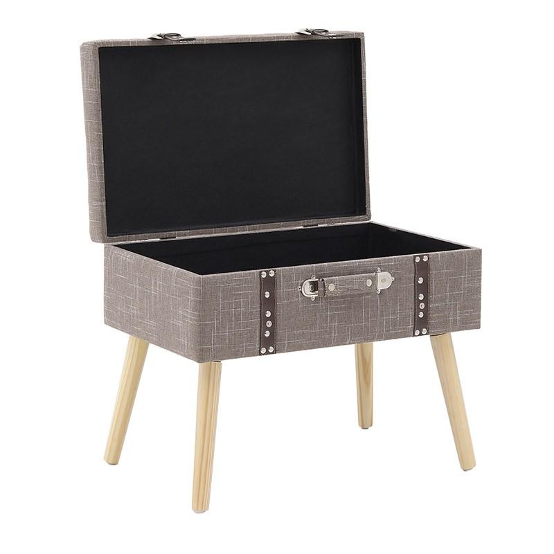 Табуретка куфар с място за съхранение - отворена
