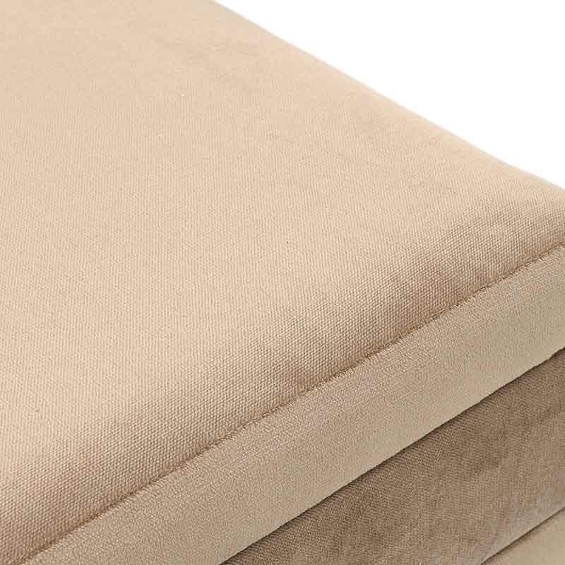 Текстилна табуретка с чекмедже - отблизо