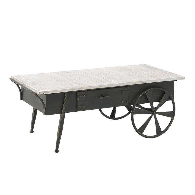 Холна маса в индустриален стил като количка