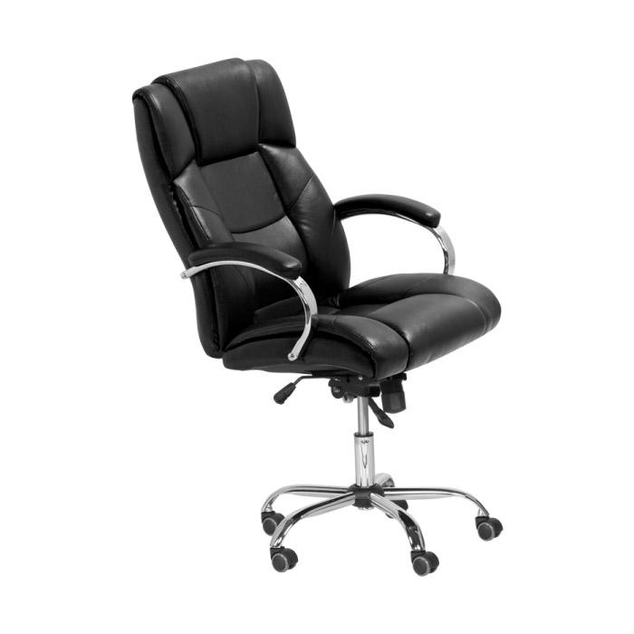 Черен кожен президентски офис стол
