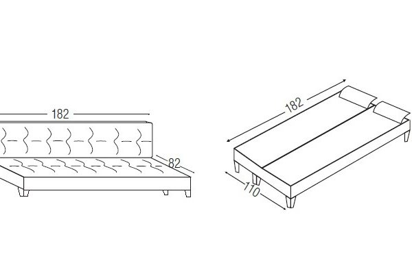 3-ка диван с функции релакс и легло-размери