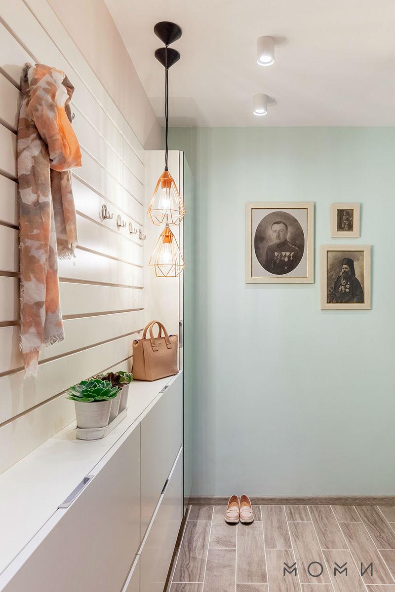 Апартамент Пастелно-декорация на коридора, пастелни цветове