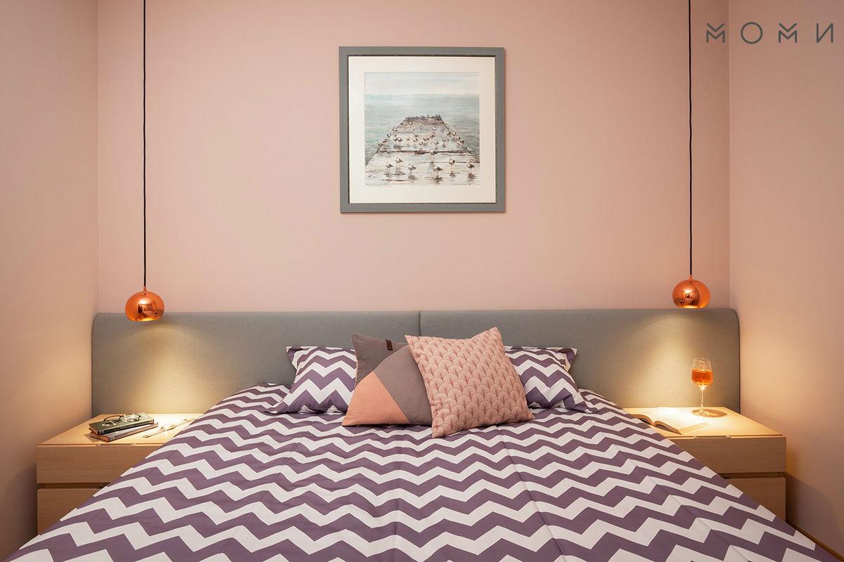 Апартамент Пастелно-спалня в пастелни цветове
