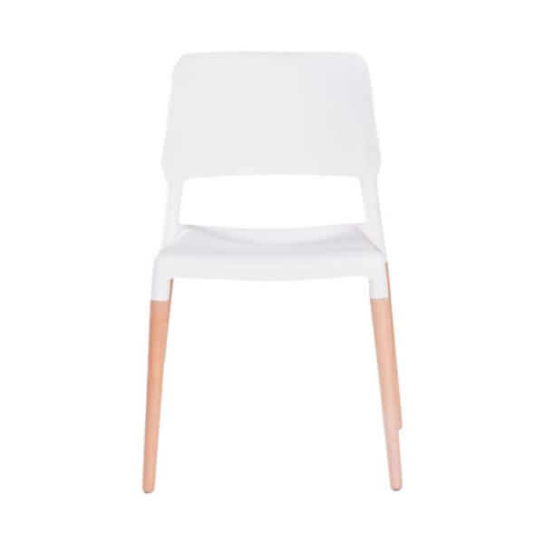 Бял пластмасов трапезен стол Scandi 013-снимка отпред