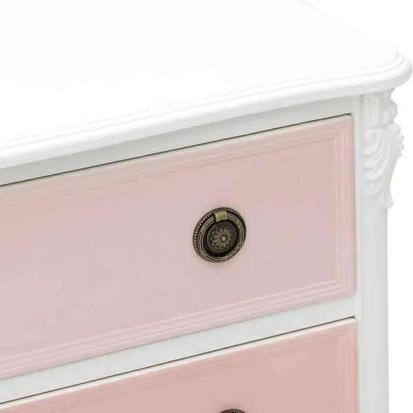 Дървен скрин в розово и бяло серия Pink