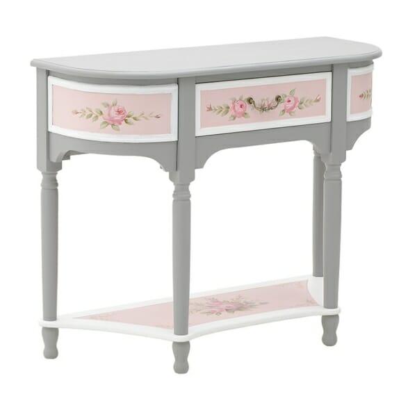 Конзолна маса в сиво и розово Pink - отстрани