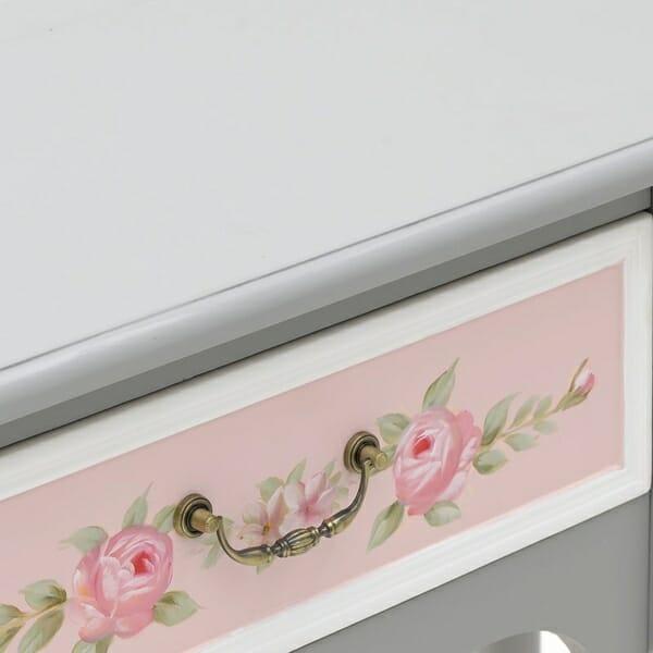 Конзолна маса в сиво и розово Pink - отблизо