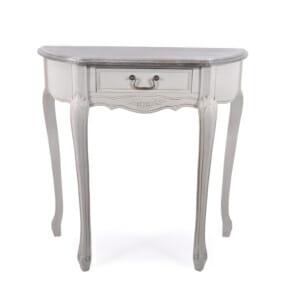 Конзолна маса с овална форма серия Retrovo със сив плот