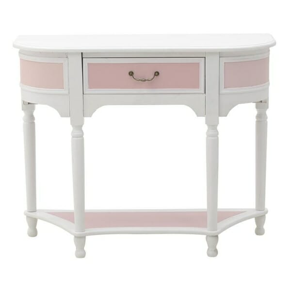 Конзолна маса с рафт и чекмедже Pink