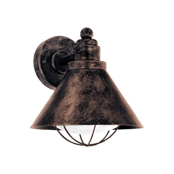 Метален фасаден аплик в индустриален стил Barrosela цвят антична мед