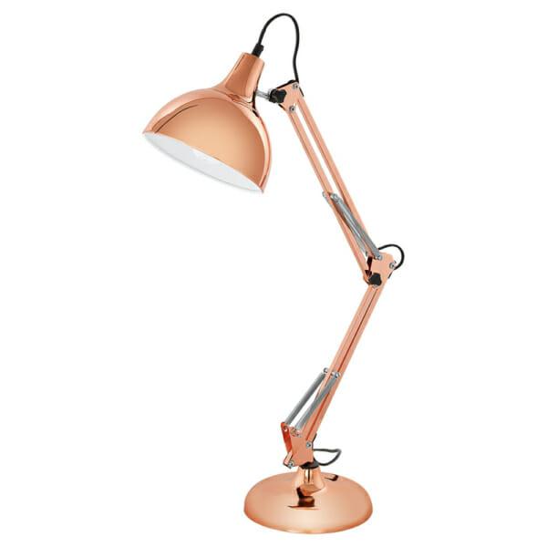 Настолна лампа с регулируема височина серия Borgillio-цвят мед