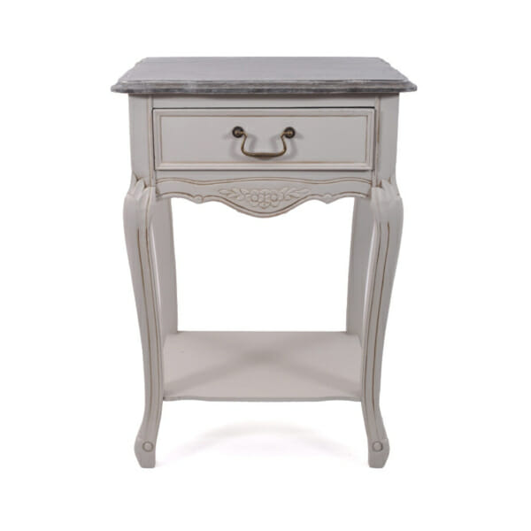 Нощно шкафче с чекмедже и рафт Retrovo - сиво