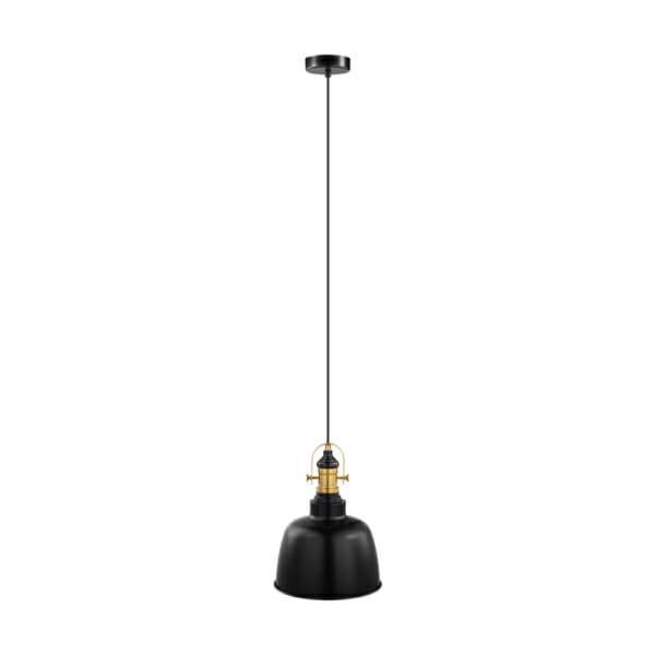 Черен пендел в индустриален стил серия Gilwell - Вариант 1