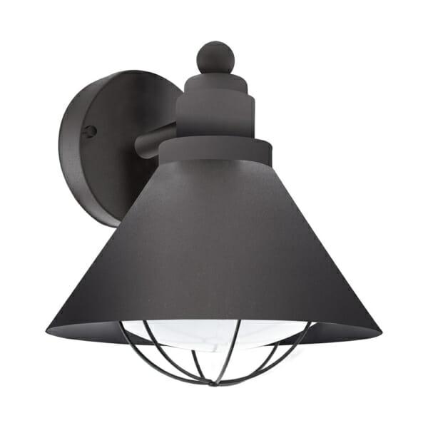 Черен метален фасаден аплик в индустриален стил серия Barrosela