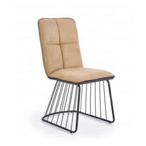 Бежов трапезен стол с нестандартен дизайн