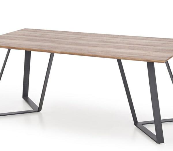 Дълга трапезна маса с правоъгълен плот Гари-снимка на бял фон