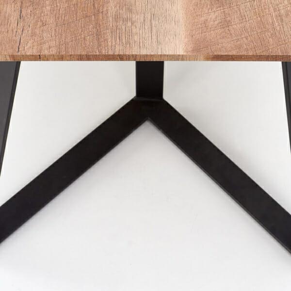 Дълга трапезна маса с правоъгълен плот Гари-снимка отблизо