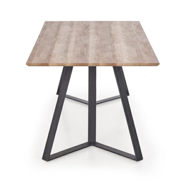 Дълга трапезна маса с правоъгълен плот Гари-снимка отгоре