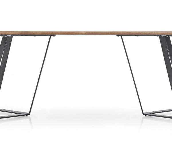 Дълга трапезна маса с правоъгълен плот Гари-снимка отстрани