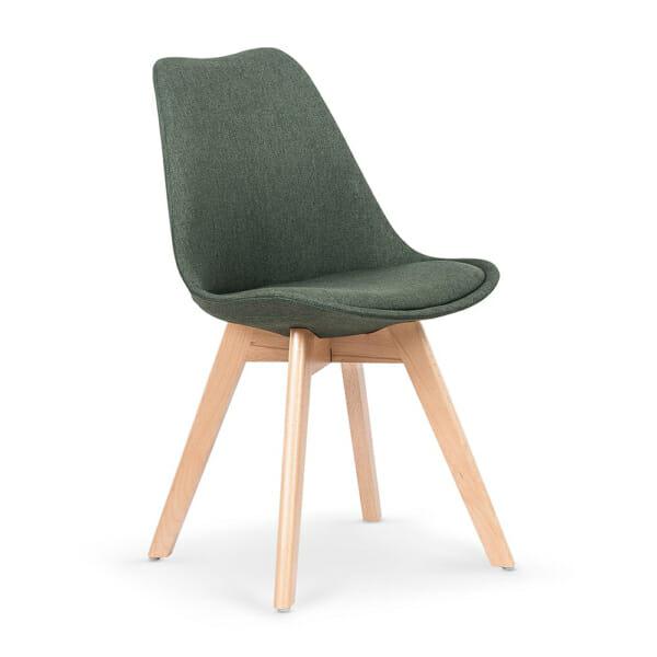 Зелен трапезен стол в скандинавски стил