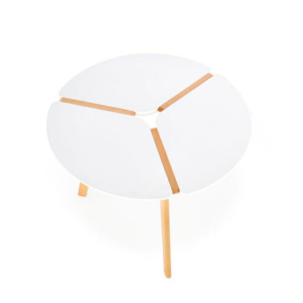 Компактна кръгла маса в скандинавски стил-снимка отгоре