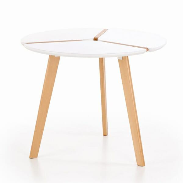Компактна кръгла маса в скандинавски стил-снимка отстрани