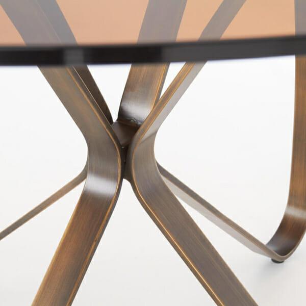 Луксозна кръгла маса със стъклен плот-снимка на краката