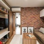 Модерен домашен офис в кафяво и бяло