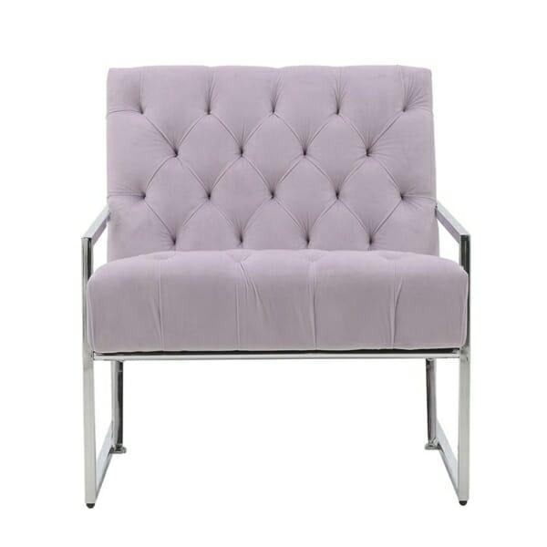 Модерно кресло с метална конструкция - отпред