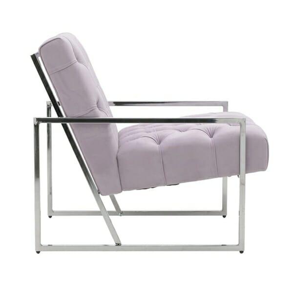 Модерно кресло с метална конструкция - отстрани