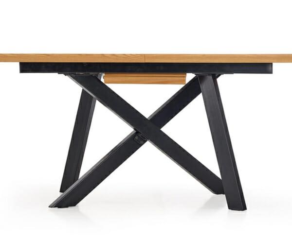 Правоъгълна разтегателна маса в индустриален стил-странична снимка