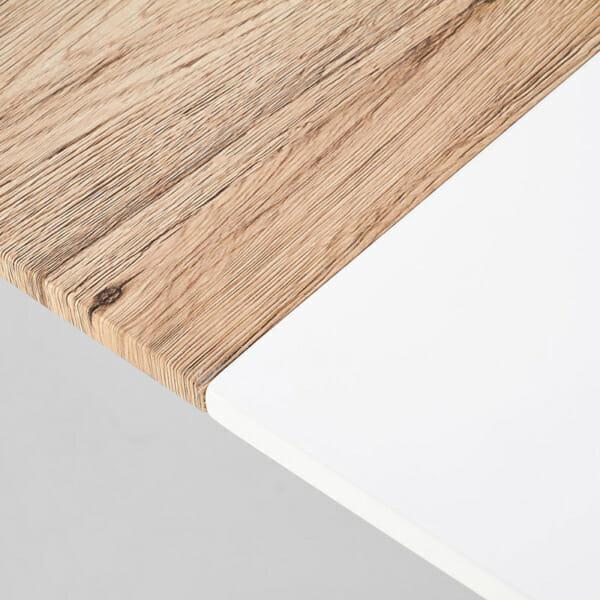 Разтегателна елипсовидна маса с бял плот Кали-снимка отблизо