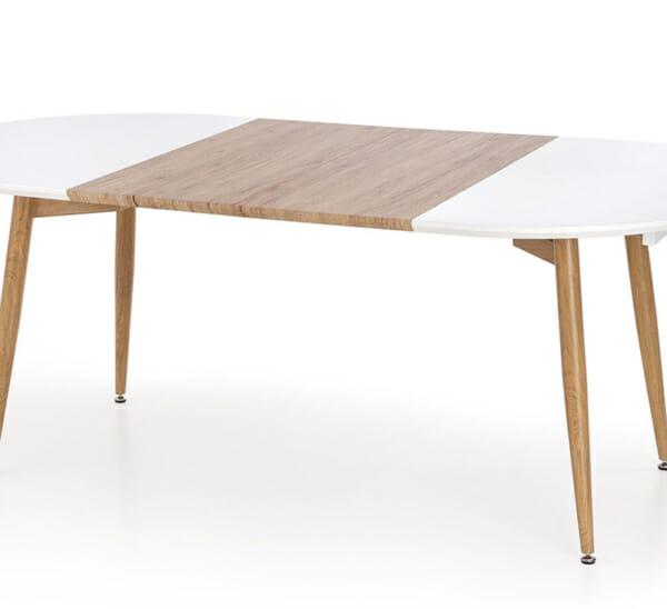 Разтегателна елипсовидна маса с бял плот Кали-снимка отгоре