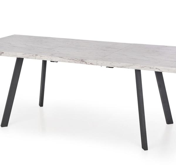 Разтегателна маса с плот имитиращ мрамор-снимка отблизо