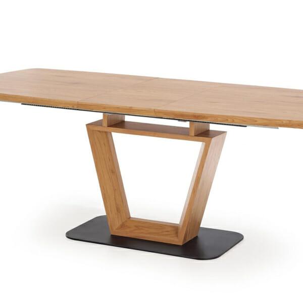 Разтегателна трапезна маса с нестандартен дизайн-отстрани