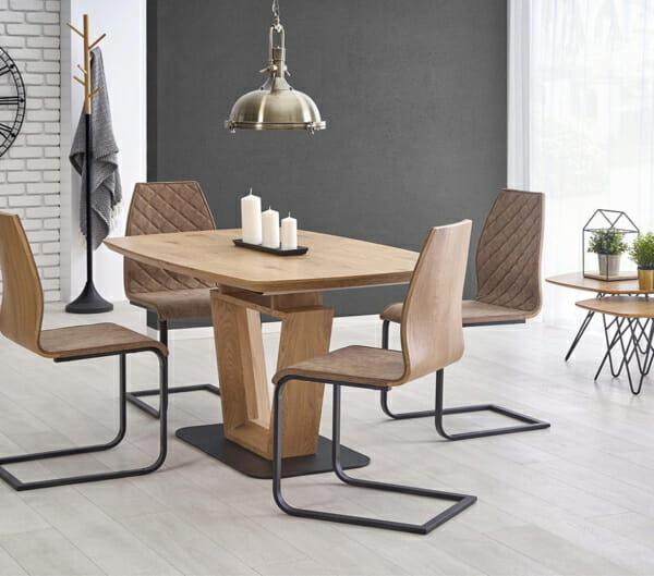 Разтегателна трапезна маса с нестандартен дизайн-странична снимка