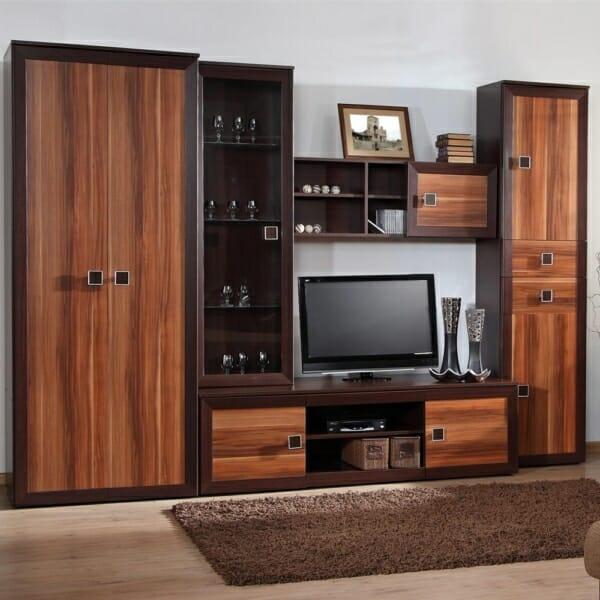 Холна секция с гардероб и място за телевизор ВМ2