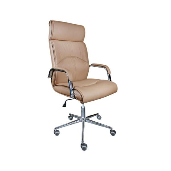 Бежов директорски офис стол от еко кожа
