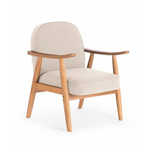 Бежов стол в ретро стил с мека седалка и облегалка