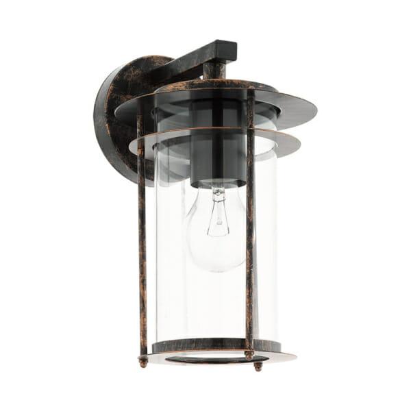Външен аплик от метал и стъкло серия Valdeo цвят античен мед
