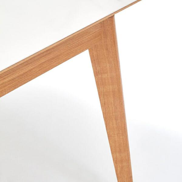 Голяма разтегателна трапезна маса Мони-снимка на крака на масата