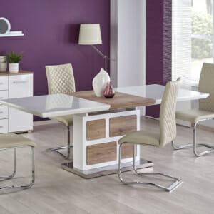 Голяма разтегателна трапезна маса с модерен дизайн
